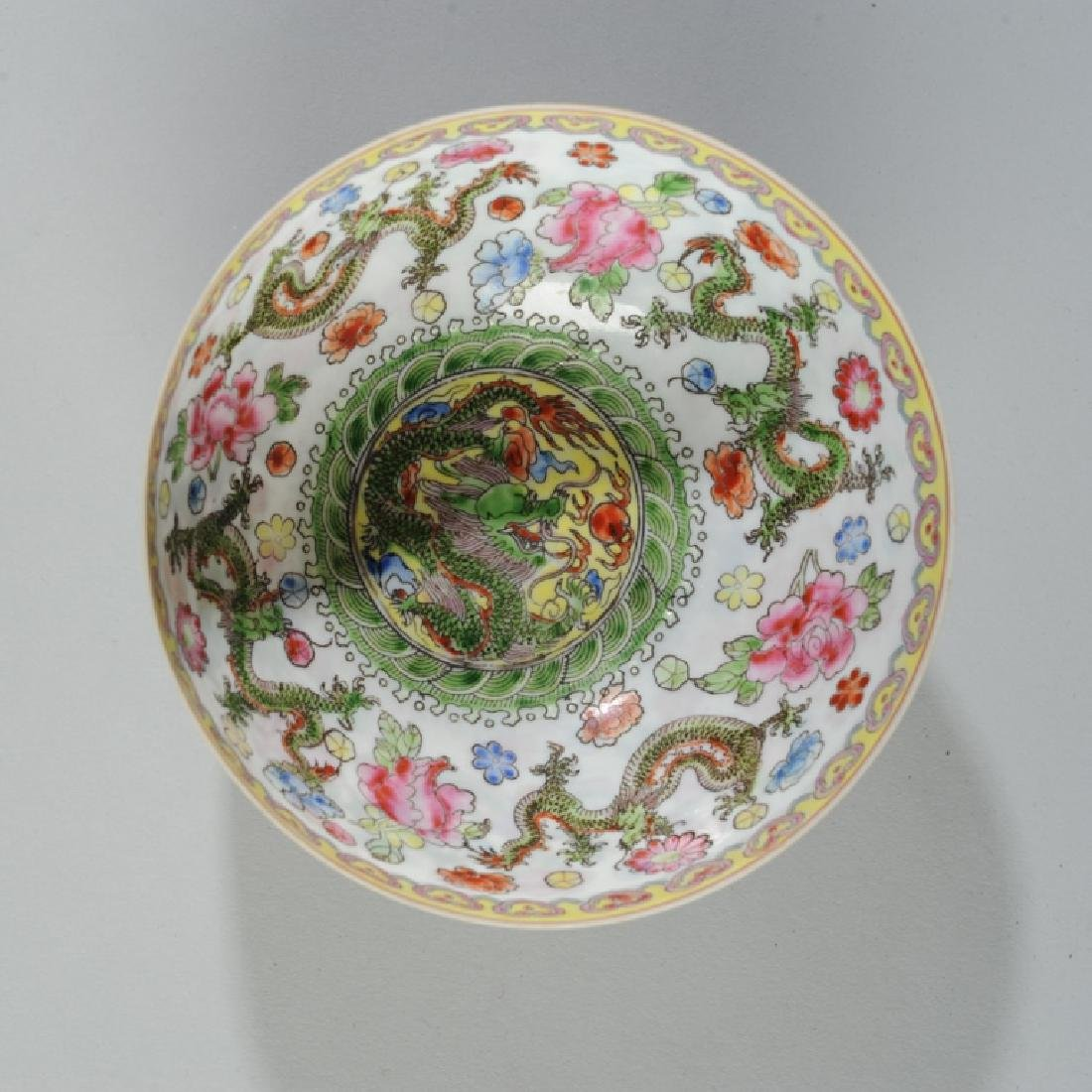 Chinese Eggshell Porcelain Dragon Bowl - 3
