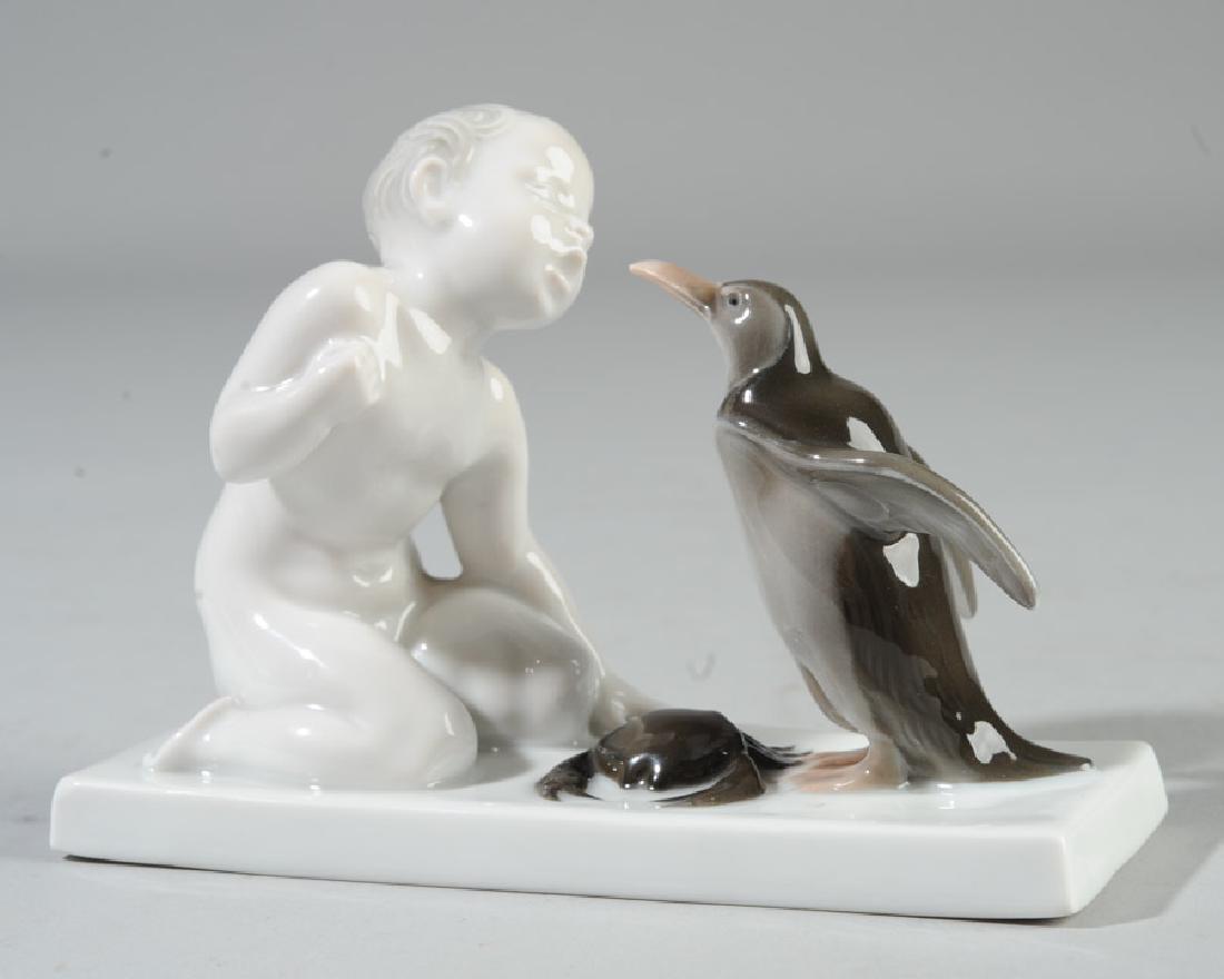 Rosenthal Porcelain Figurine Boy & Penguin