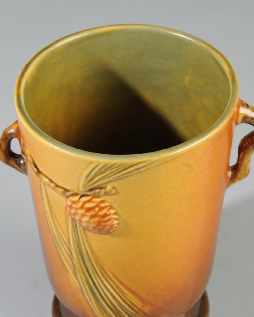 Vintage Roseville Pottery Pine Cone Vase - 4