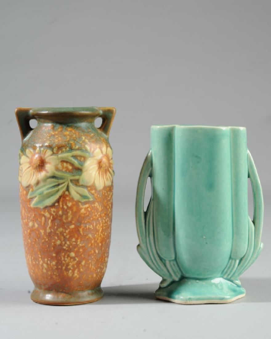 Roseville Pottery Dahlrose Vase, Art Deco Vase