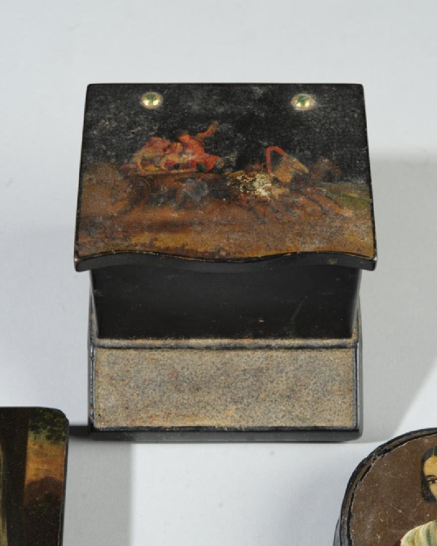 Russian Match Holder & Two Snuff Boxes - 4
