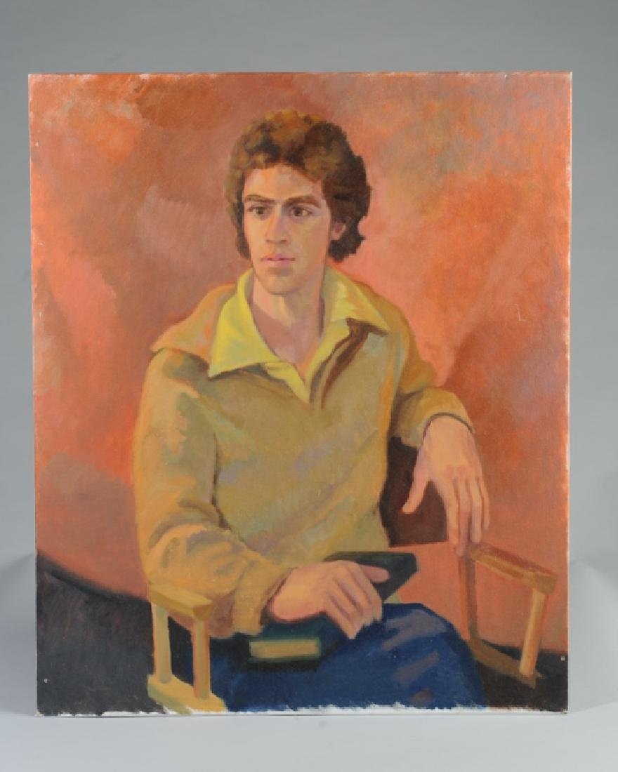 Oil on Board Seated Man