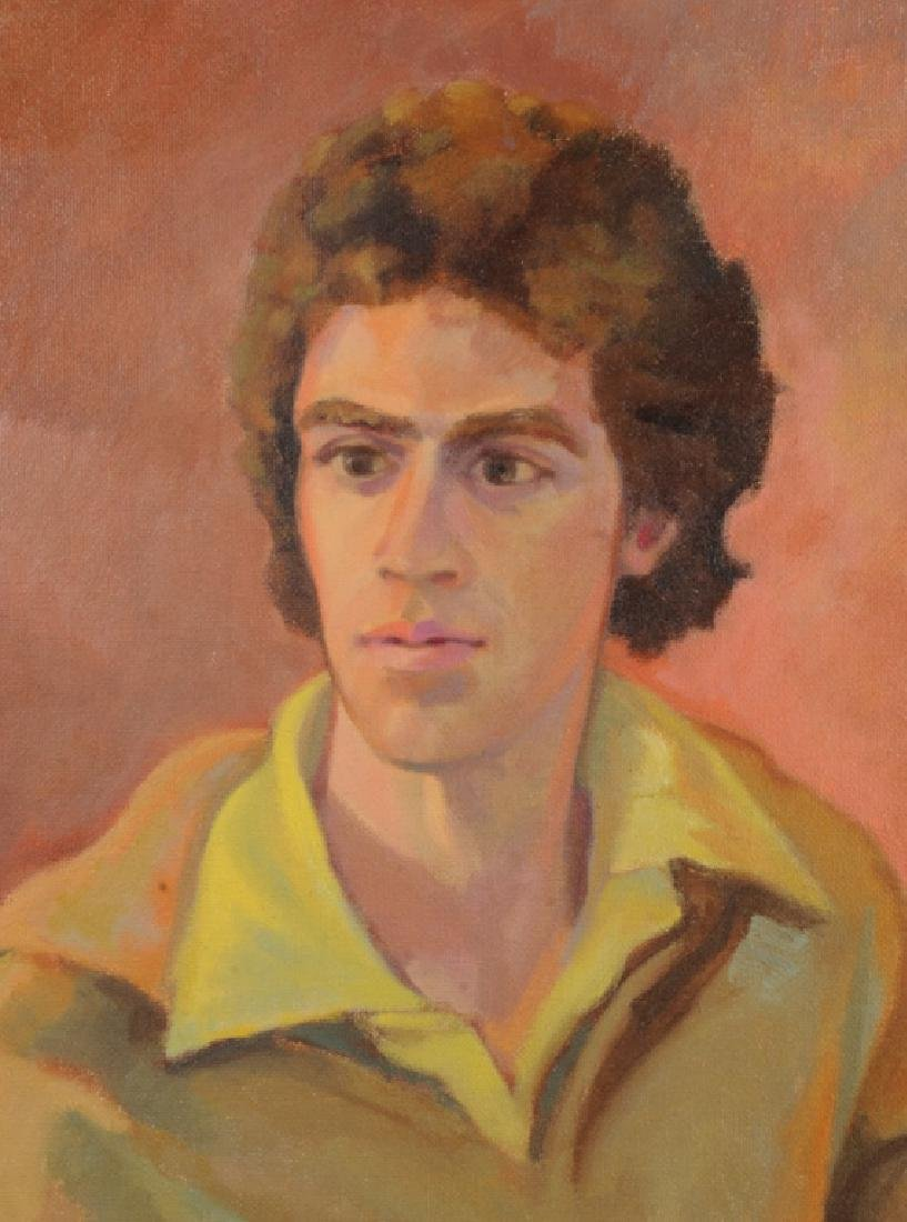 Oil on Board Seated Man - 2
