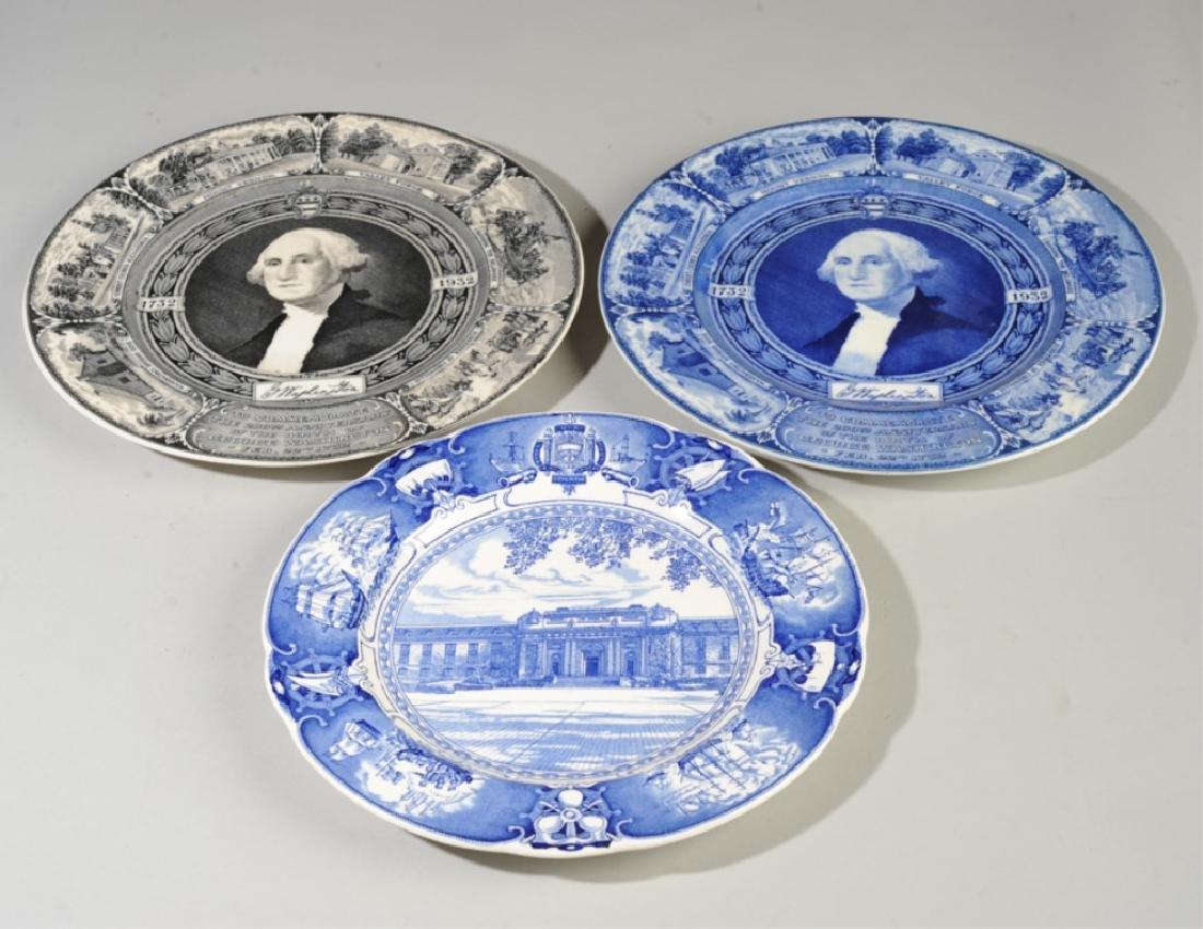 Naval Academy & Two George Washington Plates