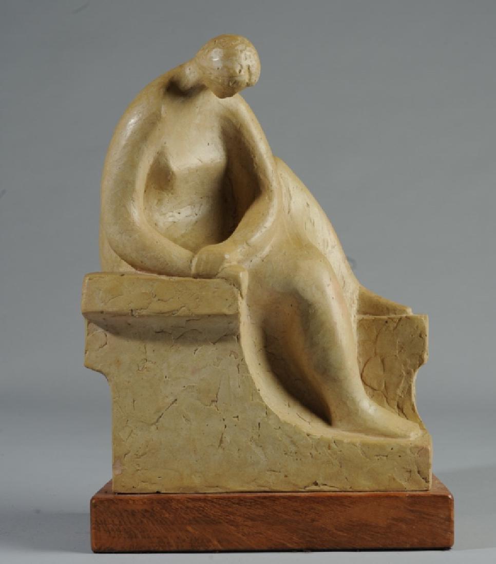 20th C. Clay Sculpture