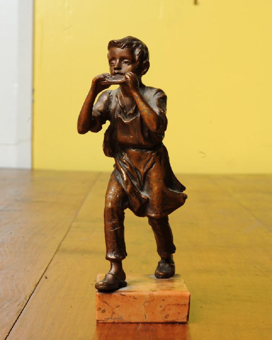 Bronze Harmonica Player
