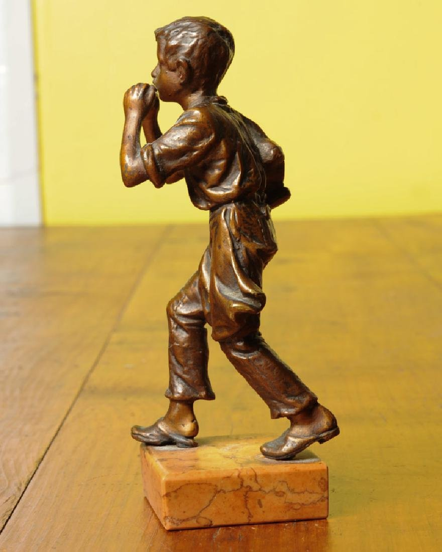 Bronze Harmonica Player - 2
