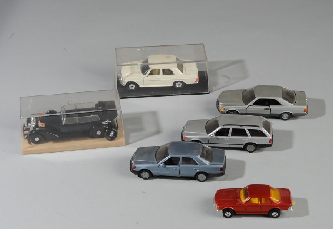 Toy Mercedes Model Car Lot