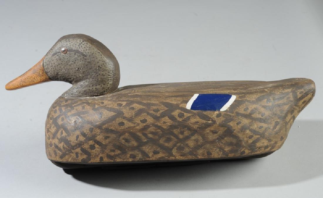 Vintage Wooden Decoy Female Mallard Duck - 2