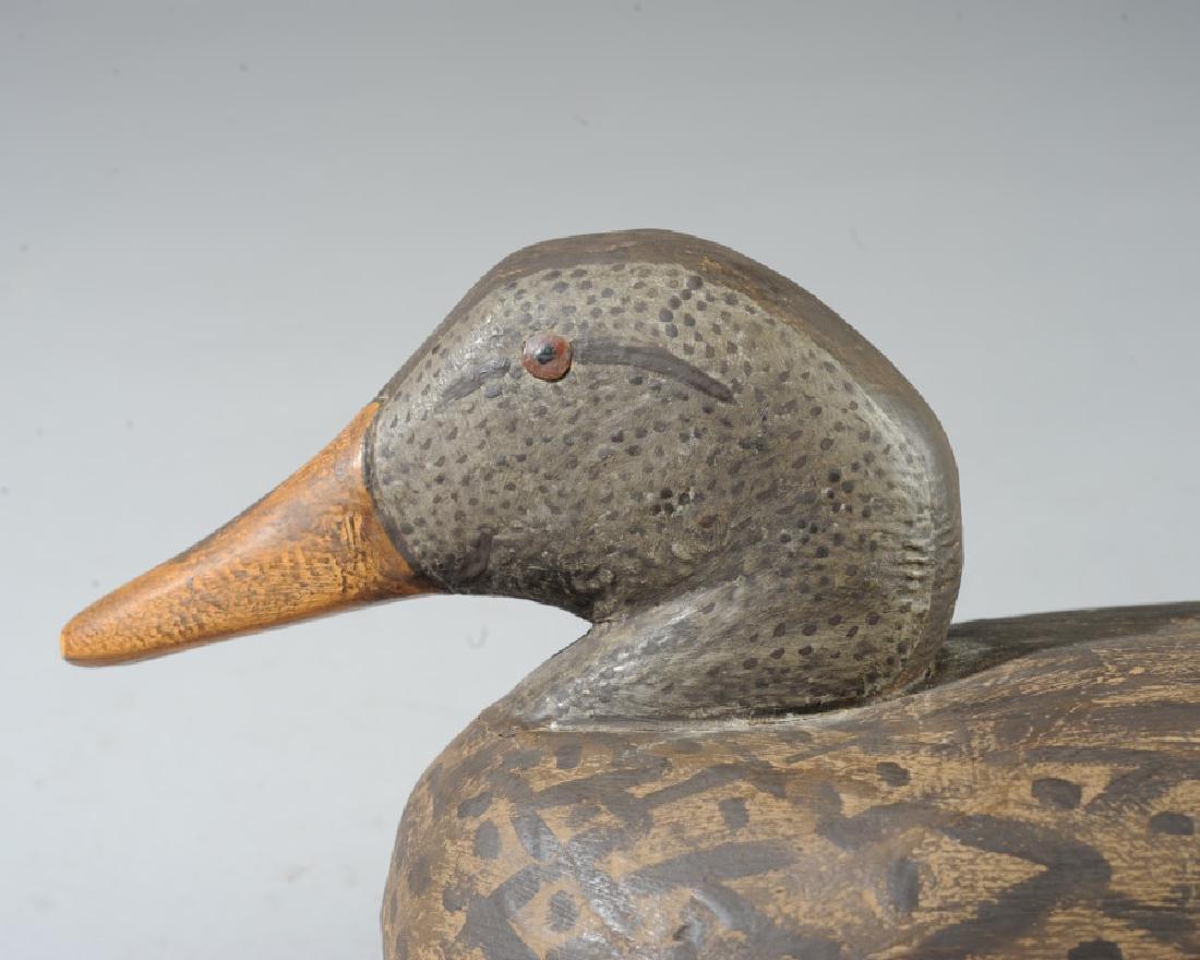 Vintage Wooden Decoy Female Mallard Duck - 3