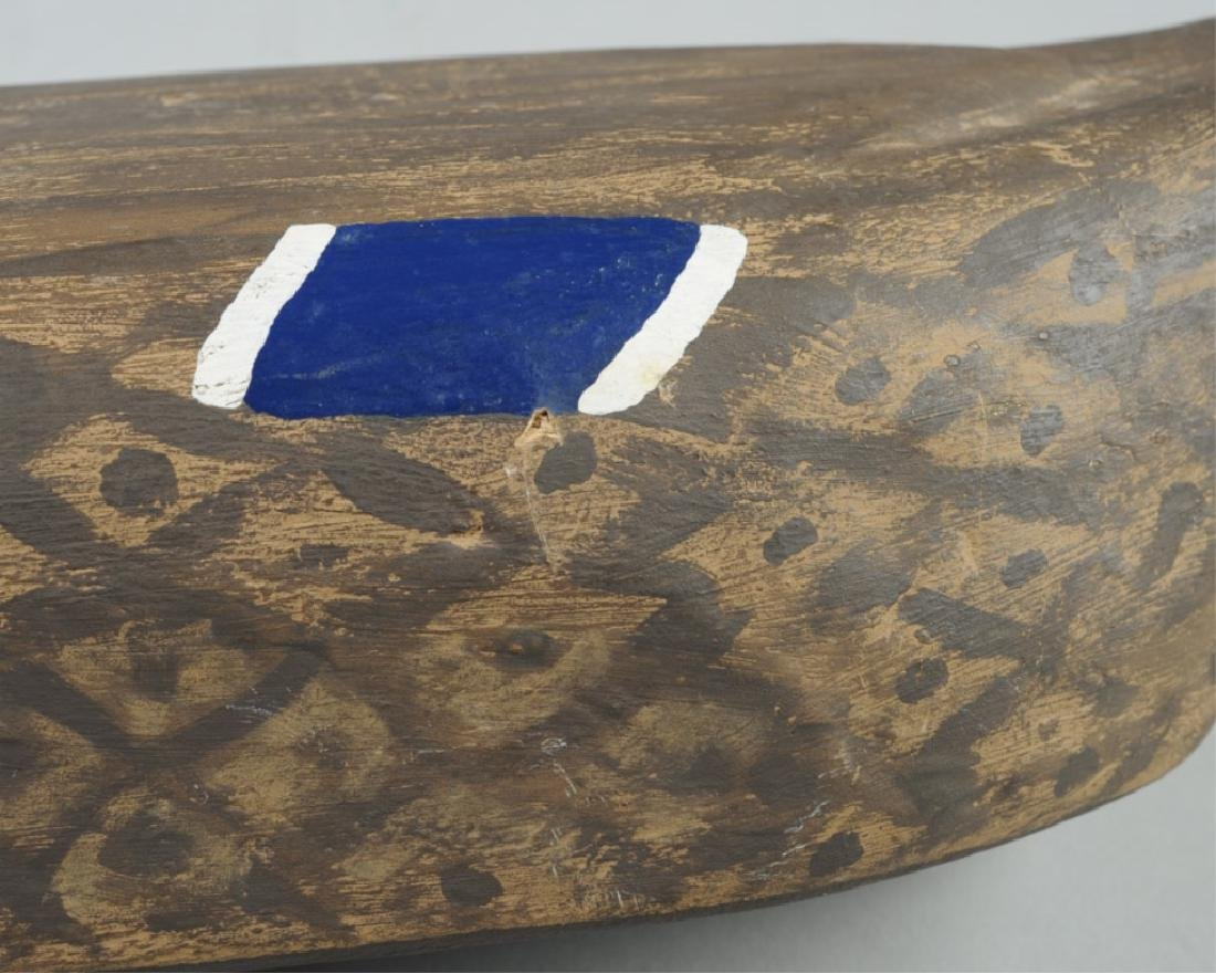 Vintage Wooden Decoy Female Mallard Duck - 4