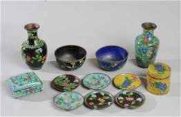 Chinese Qing to Republic Cloisonne Lot