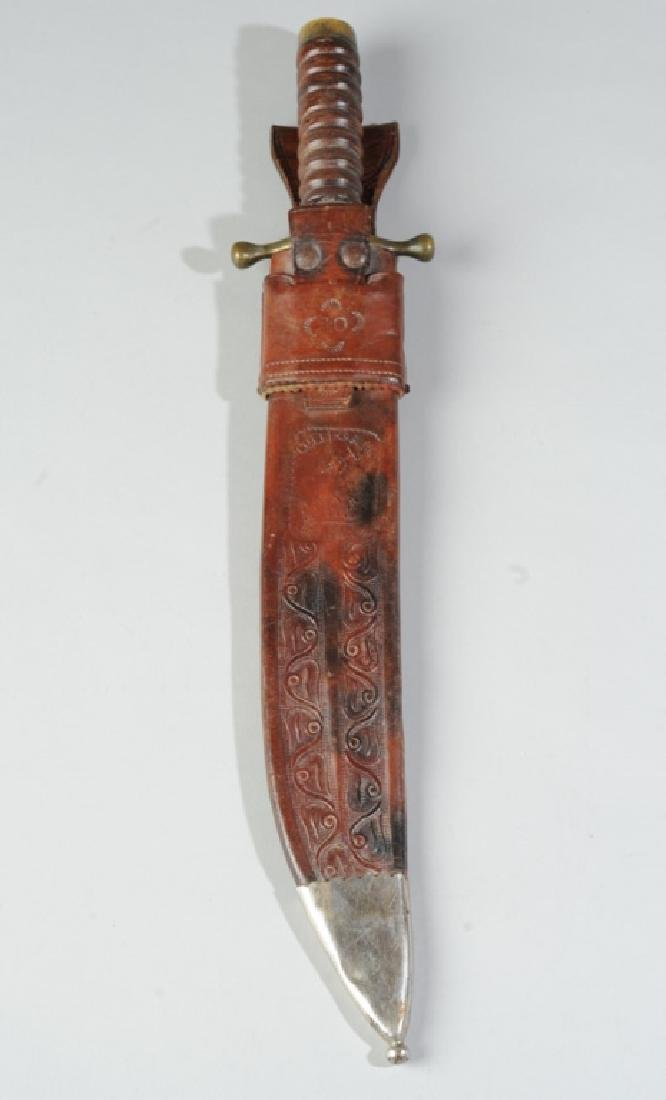 Collins & Co. No. 18 Bowie Knife & Leather Sheath