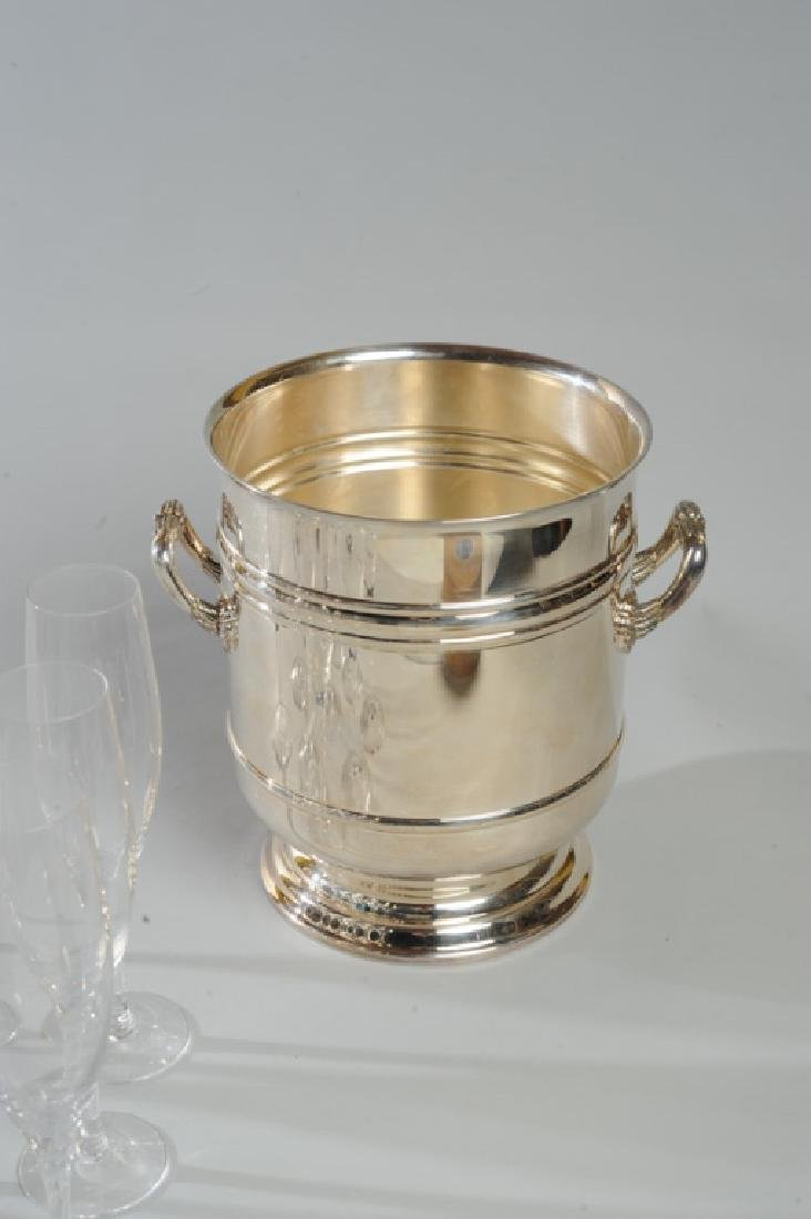 Orrefors Champagne Flutes & Chirstofle Ice Bucket - 4