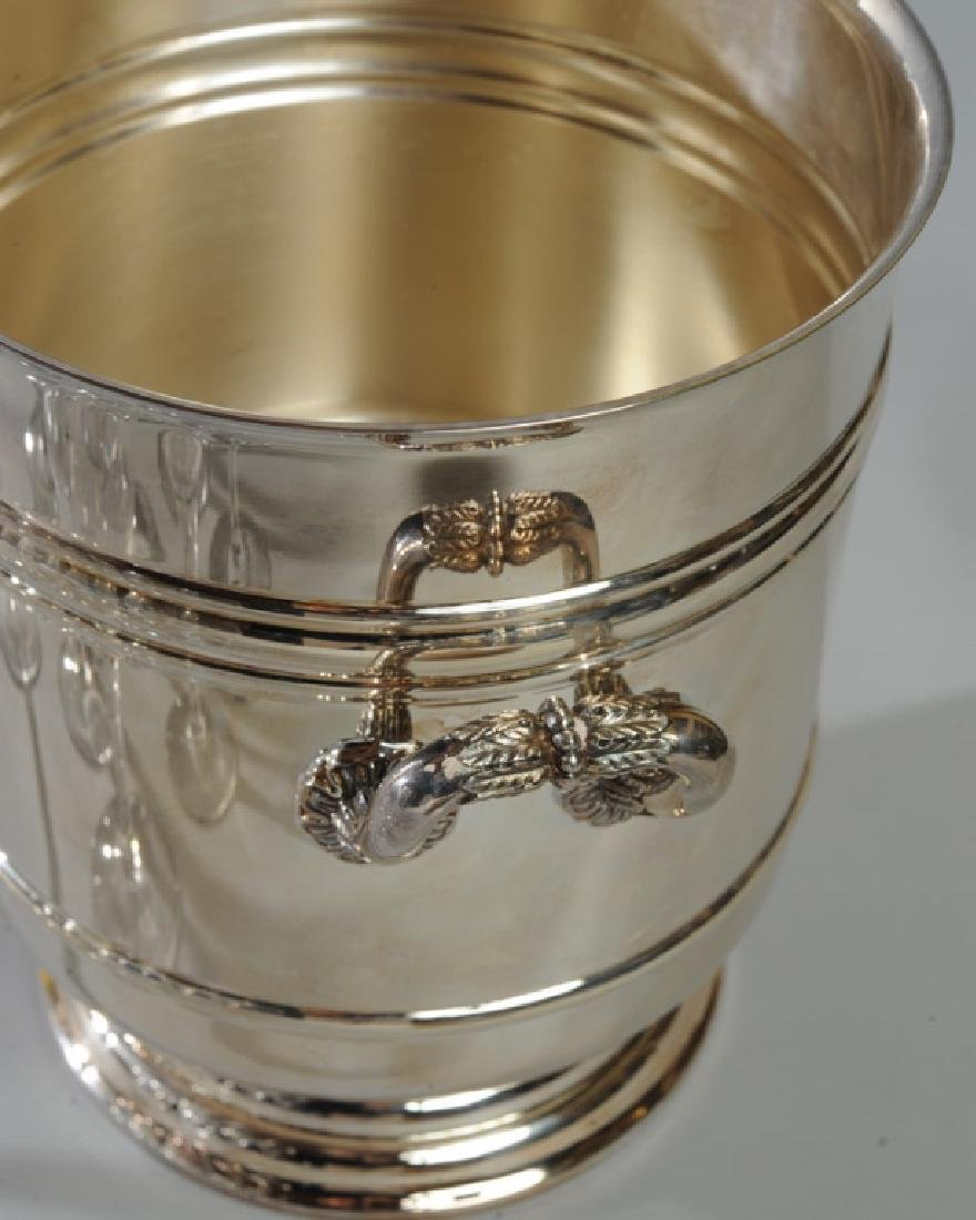 Orrefors Champagne Flutes & Chirstofle Ice Bucket - 5