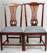 Pair Antique American Chippendale Side Chairs