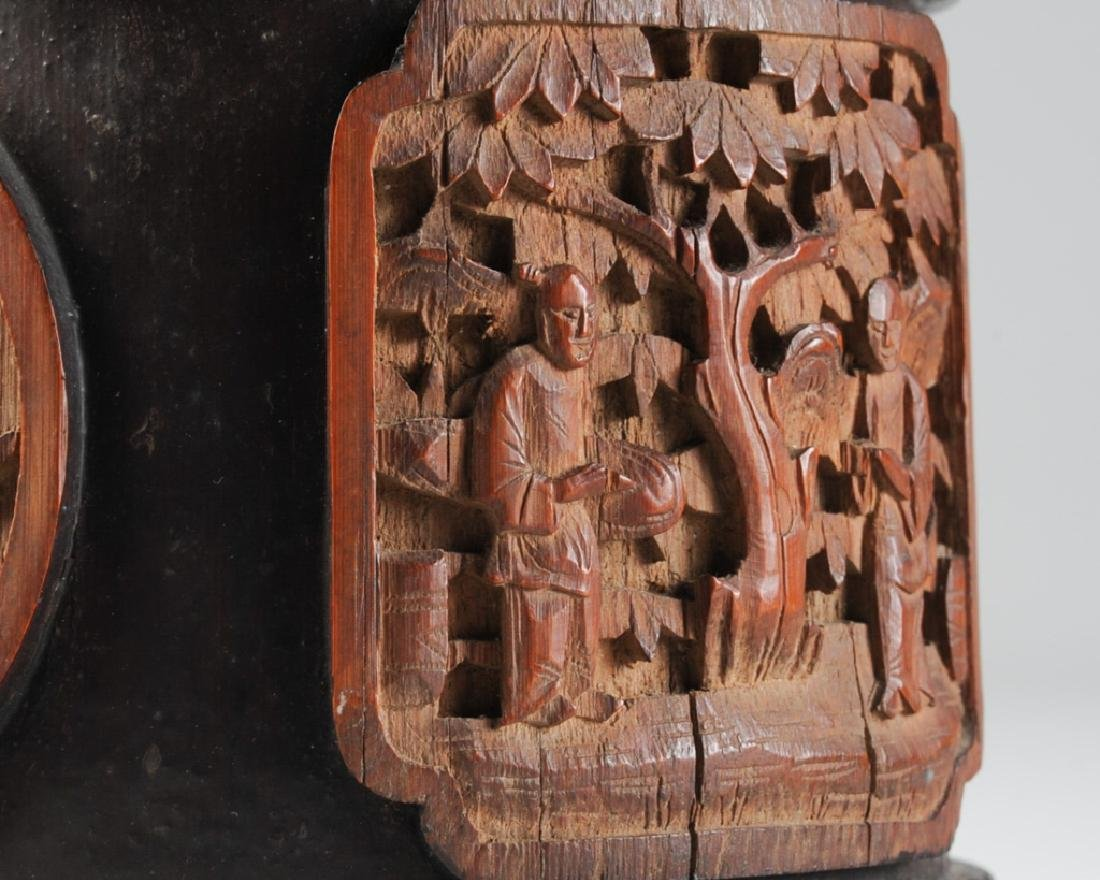 Antique Chinese Carved Bamboo Humidor - 2