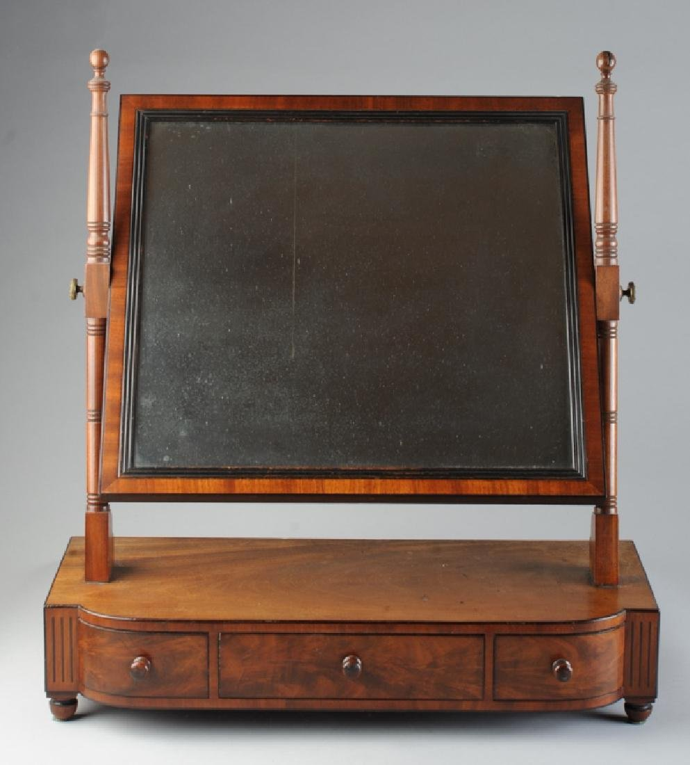 American Federal Bow Front Dressing Mirror