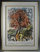 Marc Chagall Original Signed Exhibition Poster
