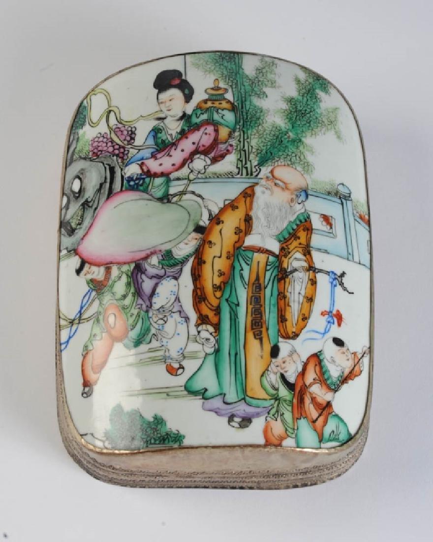 Large Chinese Porcelain Shard Box