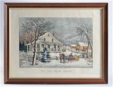 Original Hand Colored Currier  Ives Lithograph
