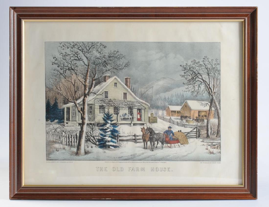 Original Hand Colored Currier & Ives Lithograph
