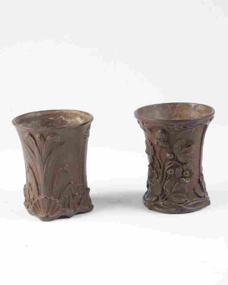 Two Wilhelm Schiller & Sons Pottery Vases