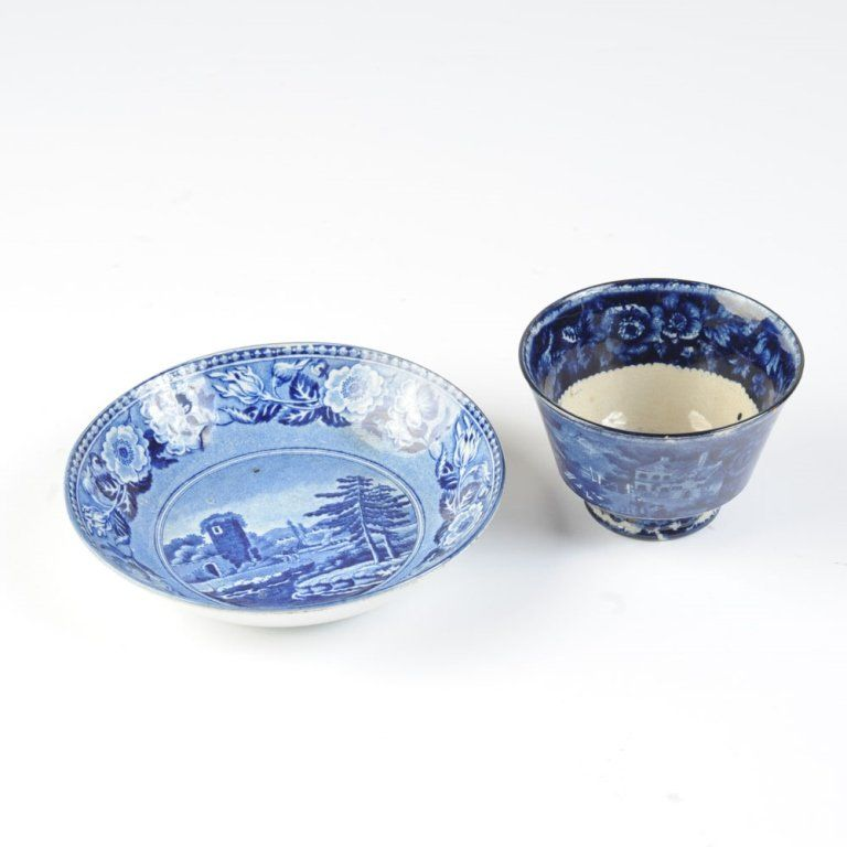 2 pcs. 19th C. English Transferware