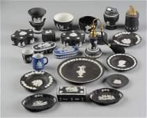22 Piece Diminutive Wedgwood Jasperware Grouping