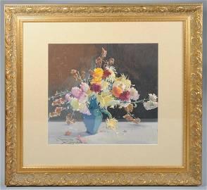 John Zwara (1880-1951) Watercolor Still Life