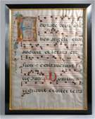 Illuminated Antiphonal Leaf