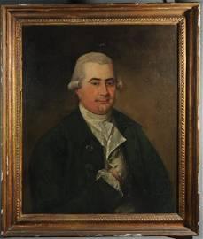 18th / 19th C Oil on Canvas Portrait of Gentleman