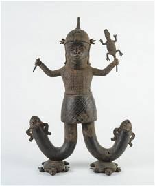 Benin Bronze Figure