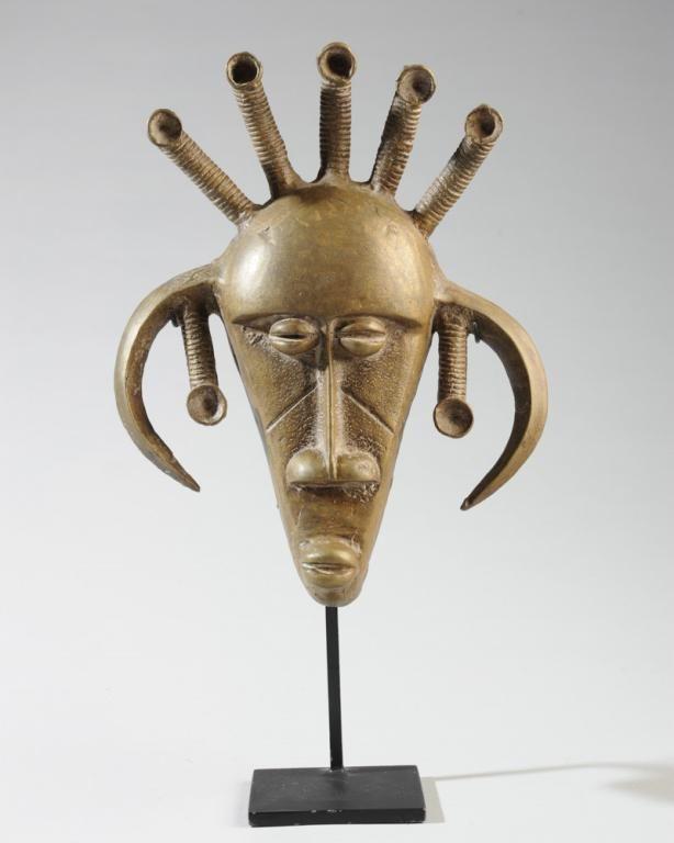 African Senufo Bronze Mask