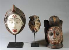 Three Punu Masks