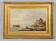 19th C. Oil on Canvas Signed Louis de Berg