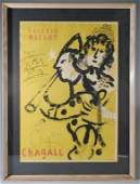 Original 1957 Marc Chagall Poster Galerie Maeght