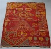 Rare Antique Turkish Wagireh (Sampler) Rug
