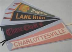 Vintage Charlottesville Pennants