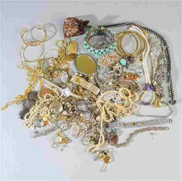 Large Mixed Grouping Costume Jewelry