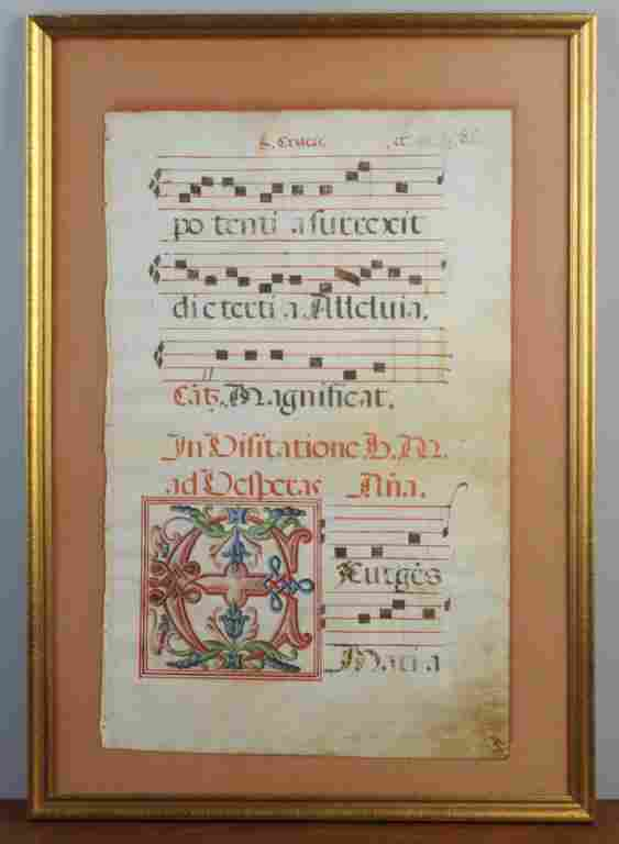 Illuminated Antiphonal on Vellum