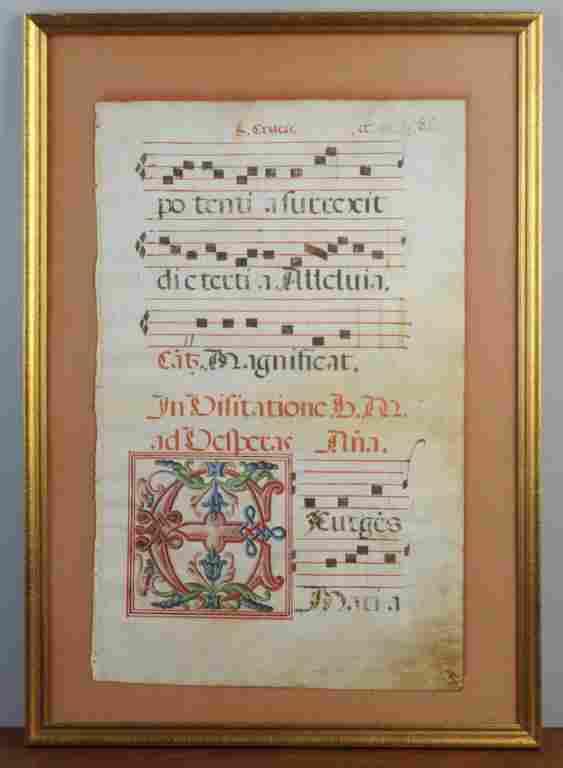 Illuminated Antiphonal on Vellum