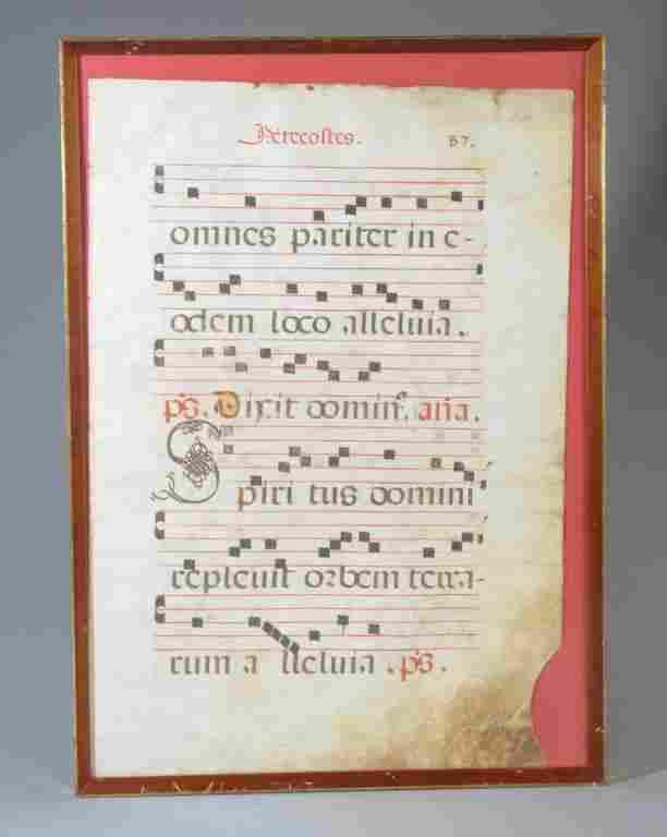 Antiphonal Manuscript on Vellum