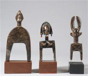 Three West African Heddle Pulleys