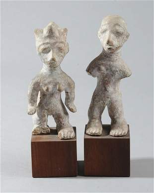 Pair West African Terracotta Figures