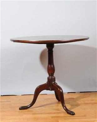 18th C. English Tilt Top Table Cuban Mahogany