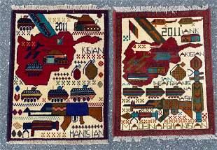 Pair of Afghan War Rugs