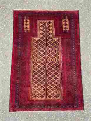 Tribal Baluchi Prayer Rug