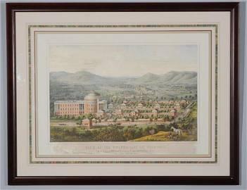 Rare Edward Sachse View of University of Virginia