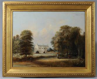 19th C. Oil On Canvas, English School